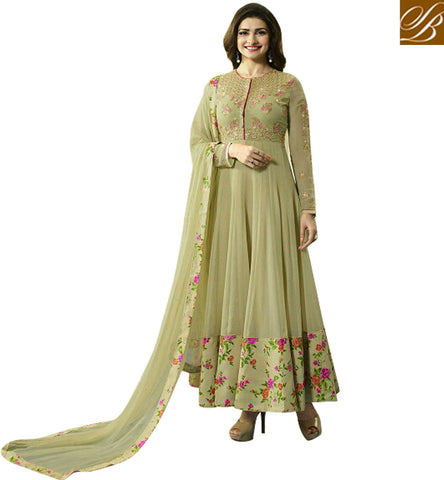 STYLISH BAZAAR BUY ONLINE BEIGE GEORGETTE PRACHI DESAI ANARKALI SALWAR SUIT FROM STYLISH BAZAAR VNPD4747