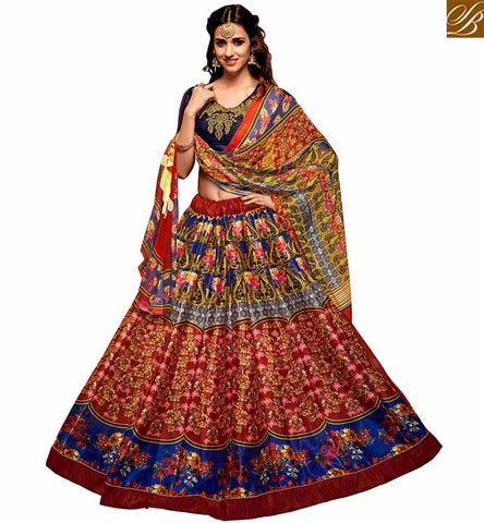 STYLISH BAZAAR BOLLYWOOD ACTRESS DISHA PATANI MULTI COLOR DESIGN WELL PRINTED LEHENGA CHOLI YNF23364