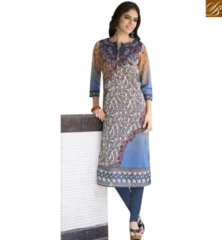 STYLISH BAZAAR MULTICOLOUR GEORGETTE CASUAL WEAR DESIGNER KURTI WITH LOVELY PRINT YSSPG1714