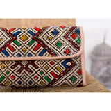 Moroccan Multi Colour Kilim Hand Clutch with Shoulder Straps Berber style-bag, tote, handbag, purse - Maison De Marrakech