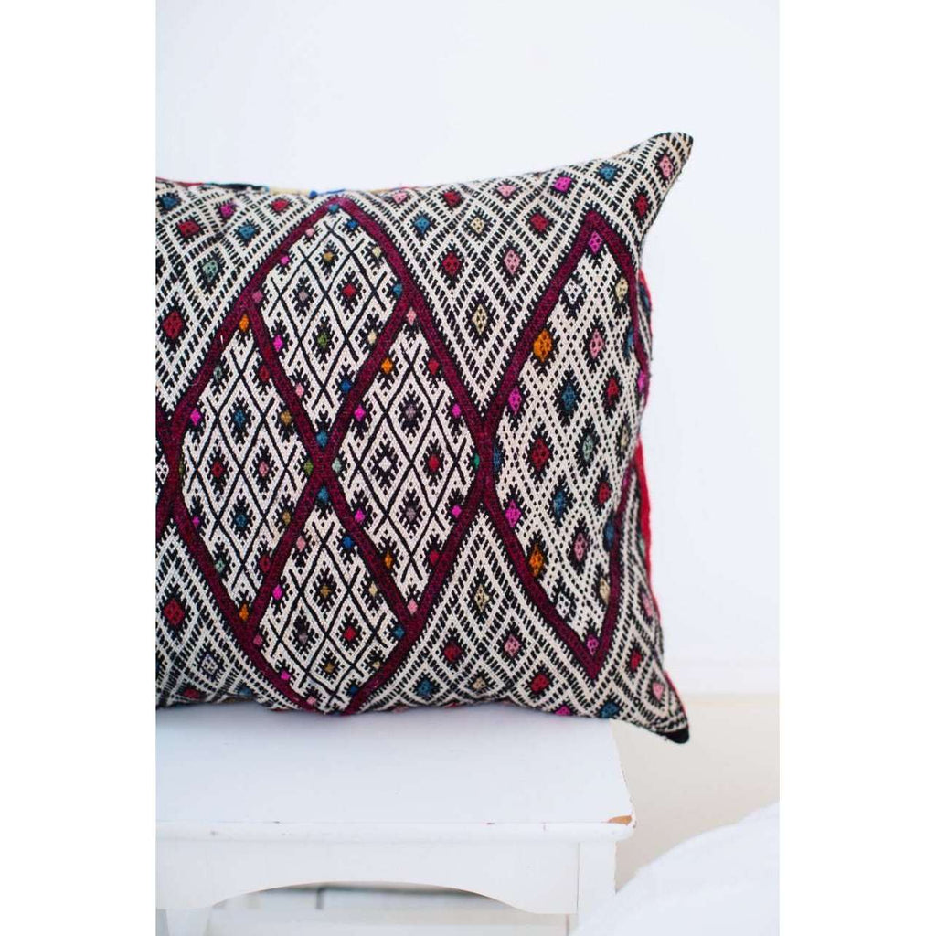 Moroccan Multi Colour Pattern Kilim Berber Carpet Cushions-lumbar, vintage cushions,Moroccan Multi Colour Pattern Kilim Berber Carpet Cushions-lumbar, vintage cushions