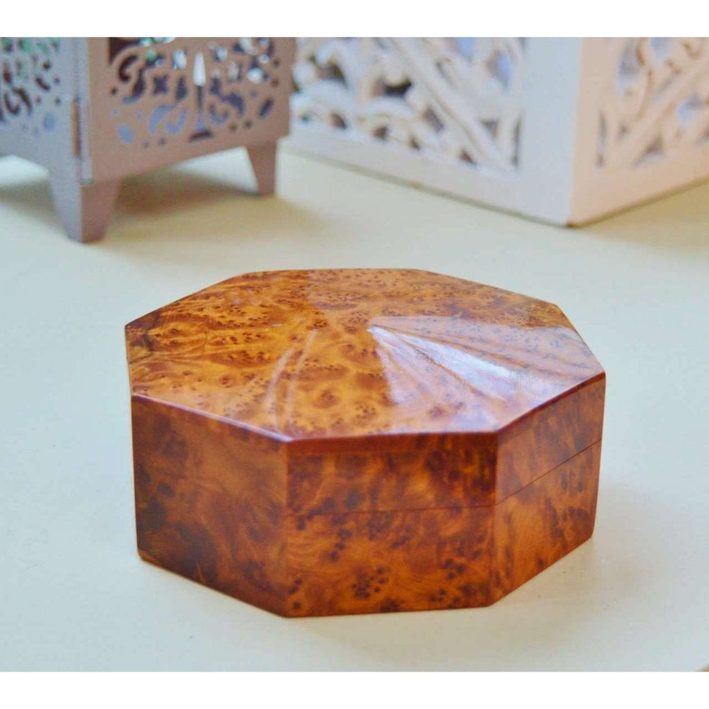 Thuya Wood Bohemian Octagonal Multiple Purpose Boxes Decor - Maison De Marrakech