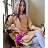 Beige Resort Reina Style Tunic Dress,Beige Resort Reina Style Tunic Dress