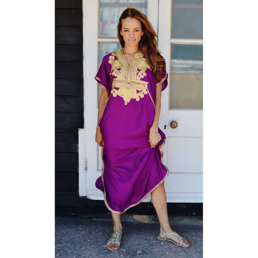 Royal Purple Marrakech Resort Lounge Moroccan Kaftan,Royal Purple Marrakech Resort Lounge Moroccan Kaftan