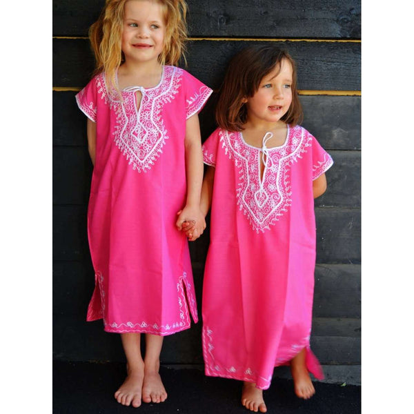Children Kaftans Pink Resort Marrakech Kaftan - Maison De Marrakech