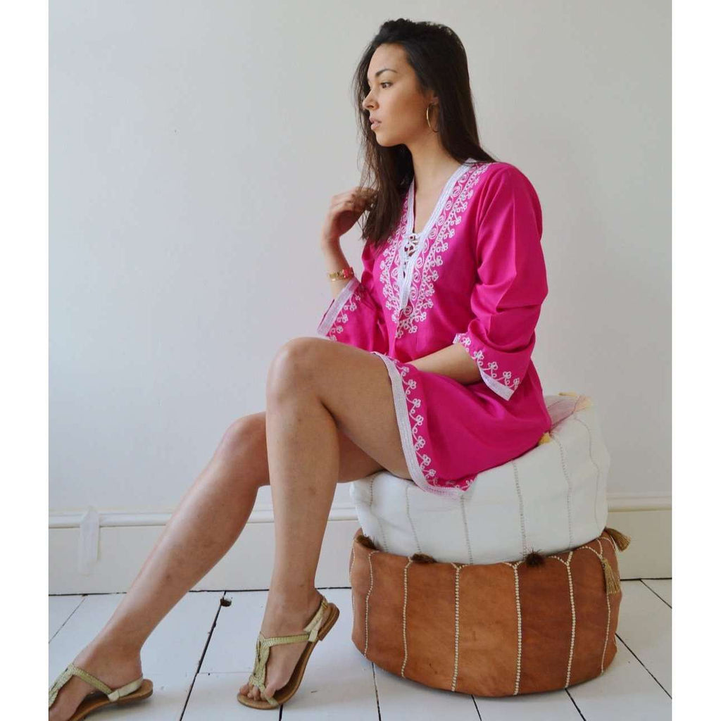 Pink Traditional Marrakech Tunic - Maison De Marrakech