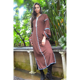 Adriana Brown Moroccan Kaftan, Kaftan Dress - Maison De Marrakech