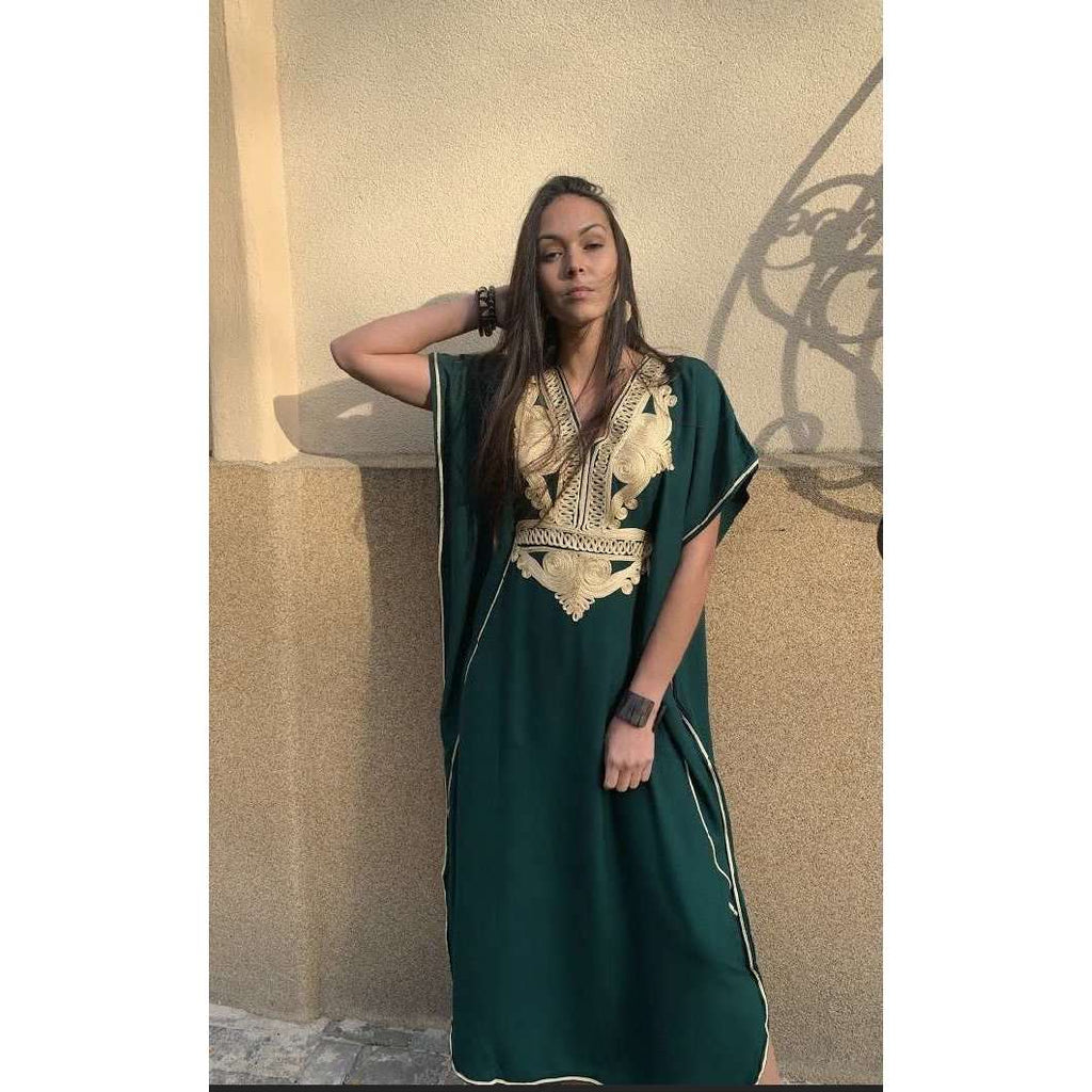 Green Gold Marrakech Kaftan Caftan & Loungewear,Green Gold Marrakech Kaftan Caftan & Loungewear