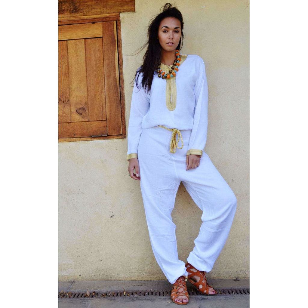White Kara Jumpsuit-Embroidered Jumpsuit,White Kara Jumpsuit-Embroidered Jumpsuit