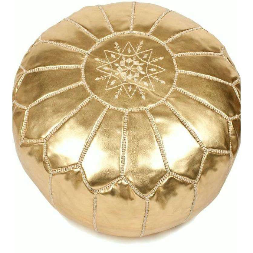Gold Moroccan Pouf Simple How To Stuff A Moroccan Pouf