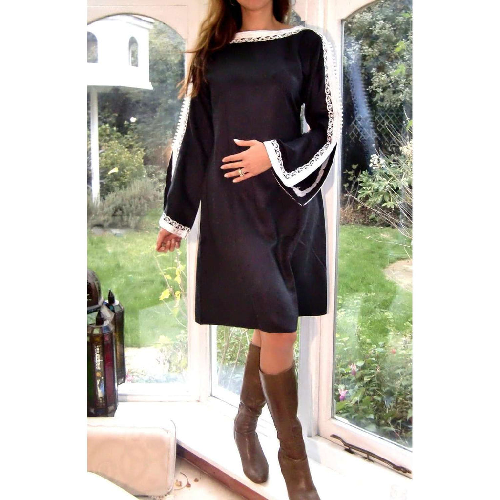 Trumpet Sleeve Tunic Dress - Maison De Marrakech