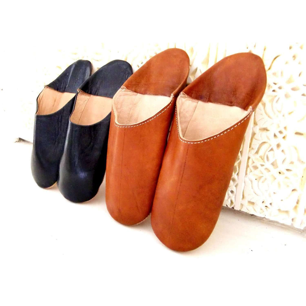Men Tan Coloured Babouche Slippers