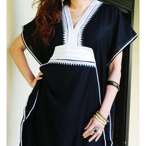 Black Resort Marine Kaftan - Maison De Marrakech