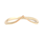 Chevron Wedding Ring - V Shaped Band