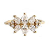 Cluster Ring Set With Diamonds - VS Diamond Ring - Flora