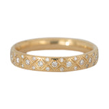 Diamond Criss Cross Wedding Band