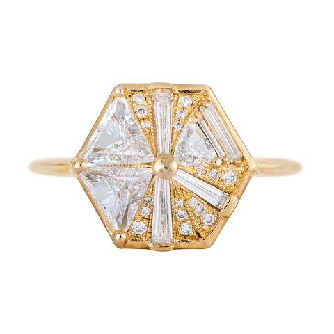 hexagon-engagement-ring-with-cluster-of-diamonds-1