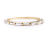 Baguette Diamonds Eternity Wedding Ring - Baguette Cut Wedding Band
