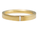 Baguette Wedding Band - Hers
