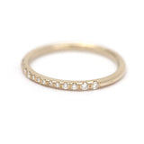 Micro Pave Diamond Band - Tiny Pave Diamond Ring