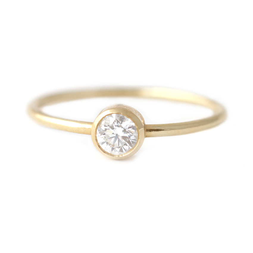 ring cut tradesy elegant i rings diamond round carat engagement gold rose