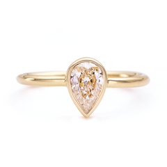 0.5 carat pear diamond ring
