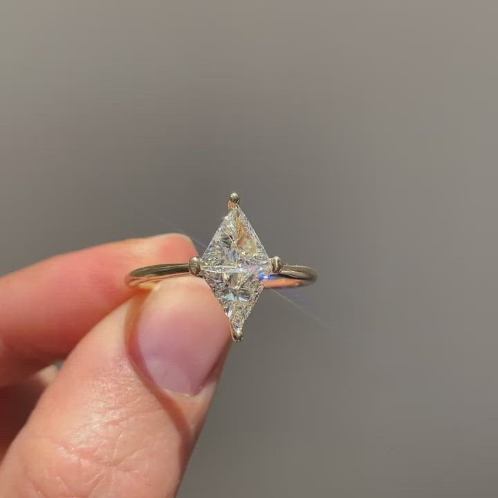 Rhombus-Engagement-Ring-One-Carat-Engagement-Ring-video