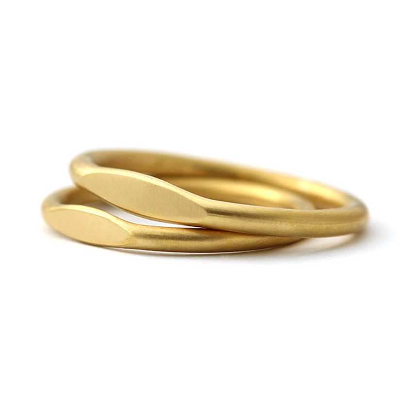 Wedding Ring Set in 22K Gold Wedding Bands His and Hers ARTEMER