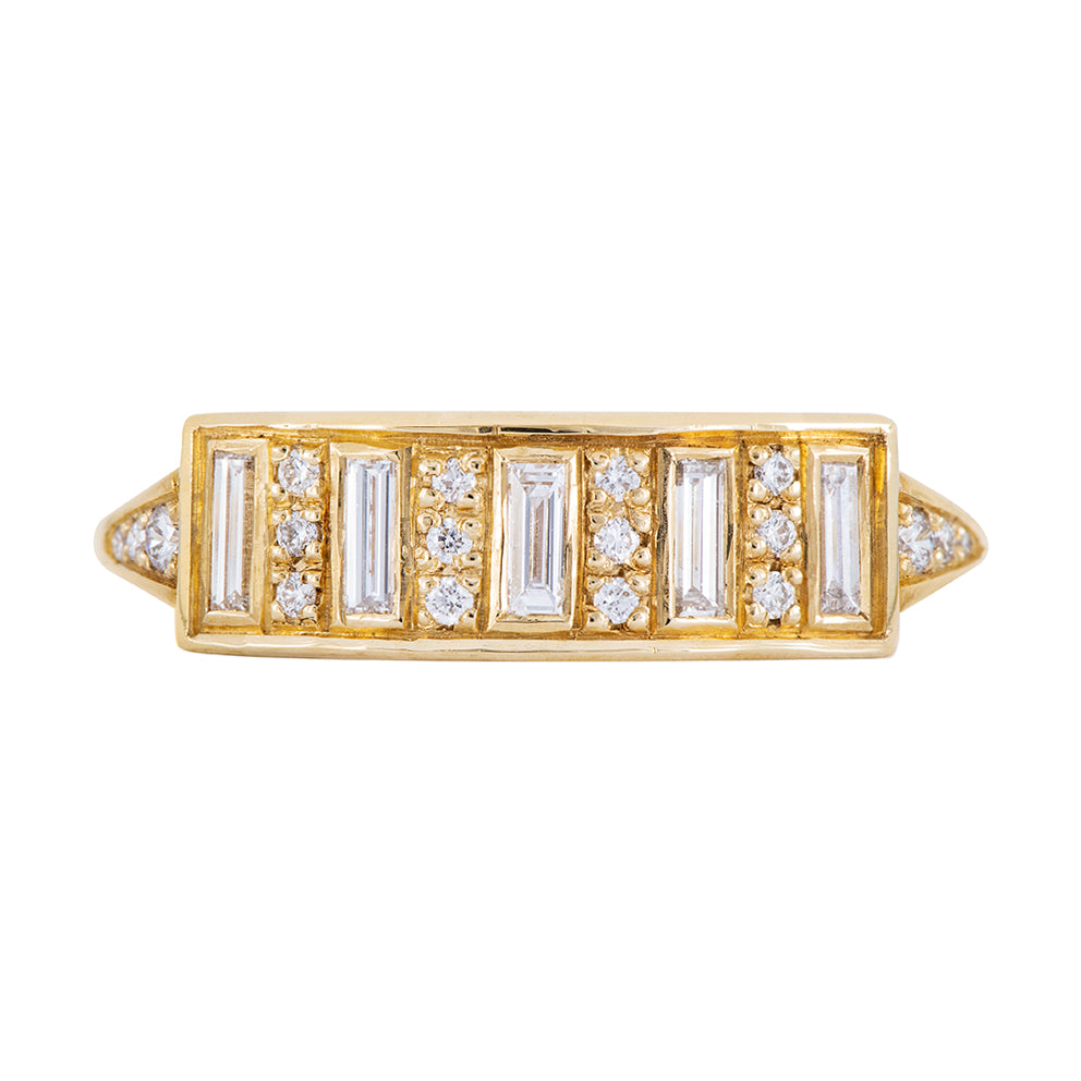 Baguette Diamond Bar Ring