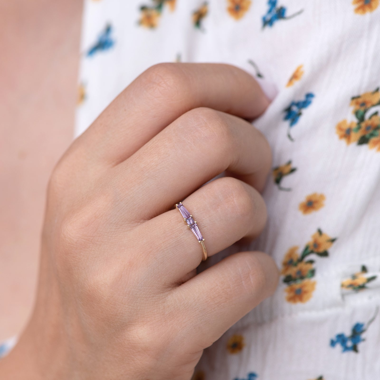Lilac needle baguette ring3