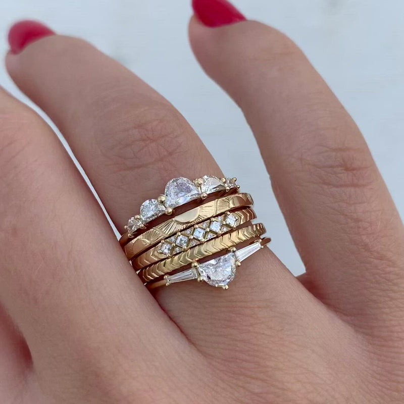 Engraved-Tribal-Wedding-Band-with-Carre-Diamonds-video