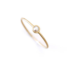 Gold Pearl Ring - 3.5 mm