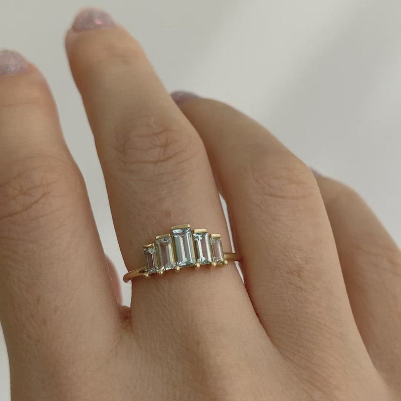 Geometric-Baguette-Cut-Aquamarine-Ring-VIDEO
