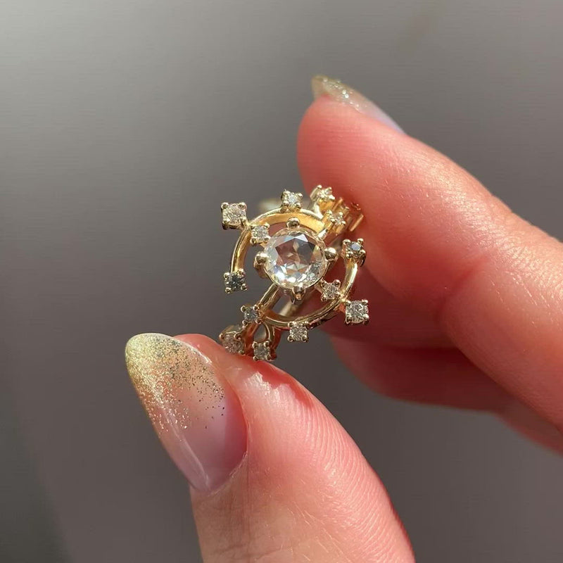 Solstice-Engagement-Ring-with-Rose-Cut-Diamond-VIDEO