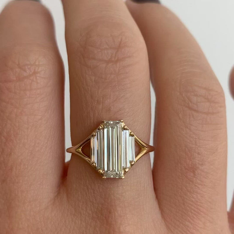 Symmetry-Engagement-ring-with-Five-Baguette-Cut-Diamonds-video