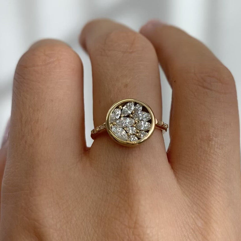 Cluster-Engagement-Ring-with-Marquise-Diamond-Petals-video