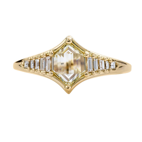 Art-Deco-Inspired-Engagement-Ring-with-One-of-a-Kind-Rose-Cut-Diamond-closeup