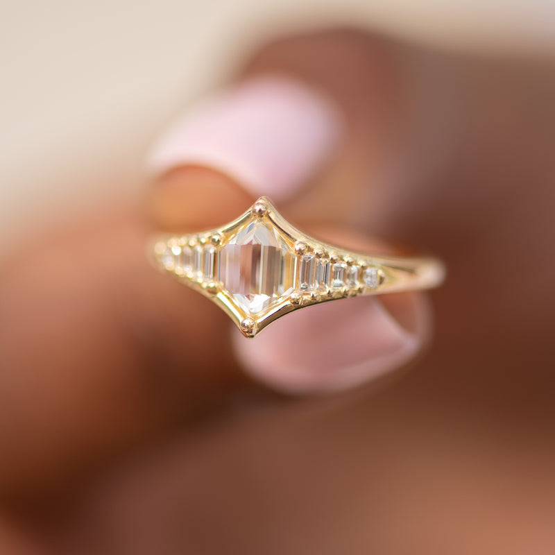 Art-Deco-Inspired-Engagement-Ring-with-One-of-a-Kind-Rose-Cut-Diamond-top-shot
