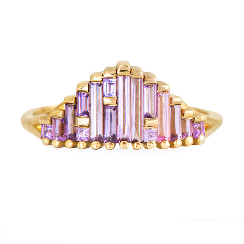 Art Deco Sapphire Ring in Lilac