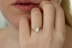 Five Diamonds Ring on hand