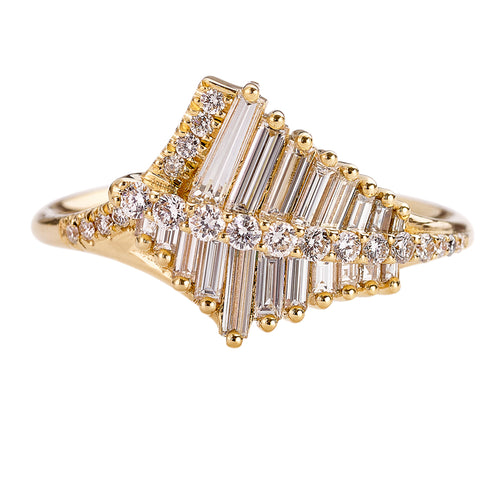 Asymmetrical-Baguette-Cluster-Ring-with-Round-Diamond-Beams-closeup