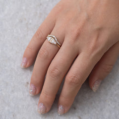 Half Moon Diamond Wedding Ring Set skin tone.jpg