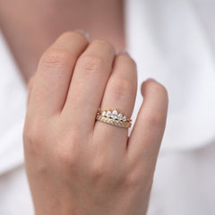 Tilted Pattern Diamond Band doublering