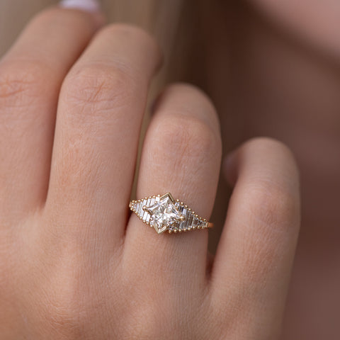 Princess Diamond Ring with Baguette Lineup1