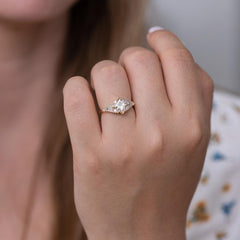 Princess Diamond Ring with Baguette Lineup3