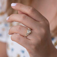 Princess Diamond Ring with Baguette Lineup6