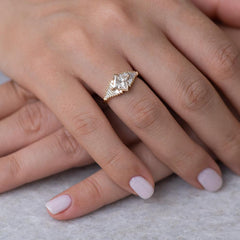 Princess Diamond Ring with Baguette Lineup7
