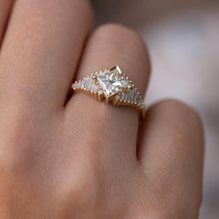 Princess Diamond Ring with Baguette Lineup2