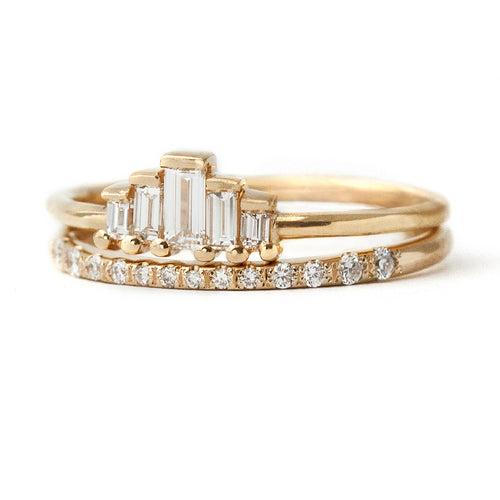 Baguette-Diamanten-Brautring-Set-Ring-Shot