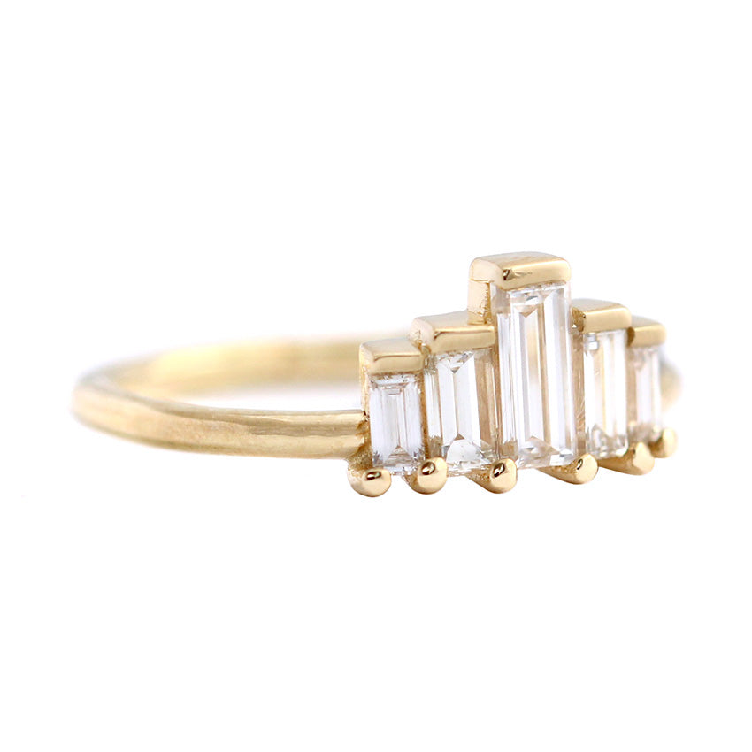 Side View Of Baguette Engagement Ring